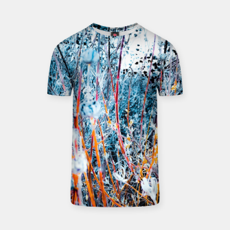 Thumbnail image of blooming dry wildflowers with dry grass field background T-shirt, Live Heroes