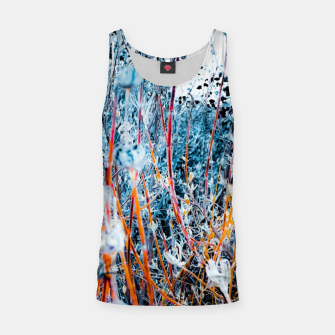 Thumbnail image of blooming dry wildflowers with dry grass field background Tank Top, Live Heroes