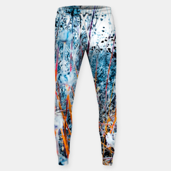 Thumbnail image of blooming dry wildflowers with dry grass field background Sweatpants, Live Heroes