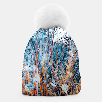 Thumbnail image of blooming dry wildflowers with dry grass field background Beanie, Live Heroes