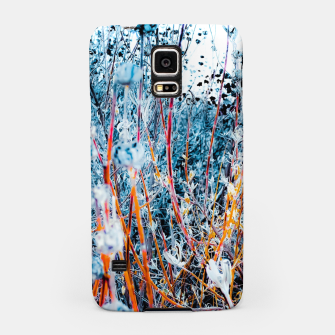Thumbnail image of blooming dry wildflowers with dry grass field background Samsung Case, Live Heroes