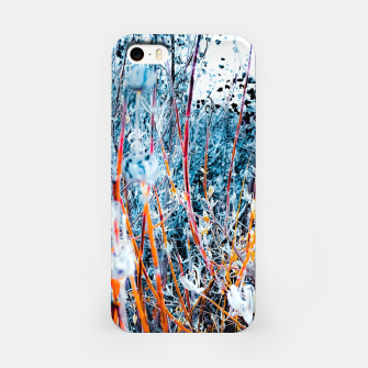 Thumbnail image of blooming dry wildflowers with dry grass field background iPhone Case, Live Heroes