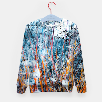 Thumbnail image of blooming dry wildflowers with dry grass field background Kid's sweater, Live Heroes