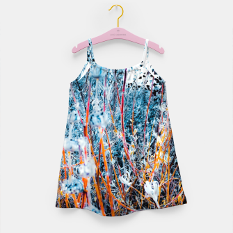 Thumbnail image of blooming dry wildflowers with dry grass field background Girl's dress, Live Heroes