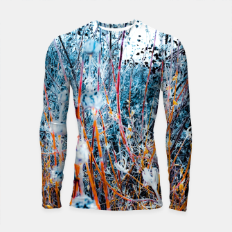 Thumbnail image of blooming dry wildflowers with dry grass field background Longsleeve rashguard , Live Heroes