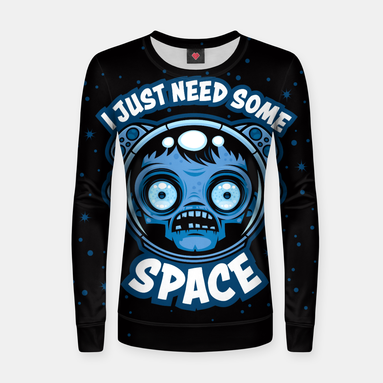 Image of Zombie Astronaut Needs Some Space Women sweater - Live Heroes