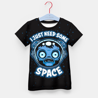 Thumbnail image of Zombie Astronaut Needs Some Space Kid's t-shirt, Live Heroes