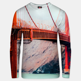Thumbnail image of Boat and bridge view at Golden Gate Bridge, San Francisco, USA Unisex sweater, Live Heroes