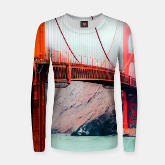 Thumbnail image of Boat and bridge view at Golden Gate Bridge, San Francisco, USA Women sweater, Live Heroes
