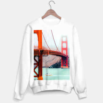 Thumbnail image of Boat and bridge view at Golden Gate Bridge, San Francisco, USA Sweater regular, Live Heroes