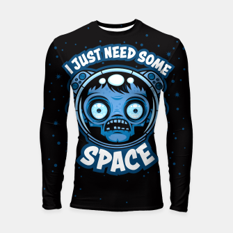 Thumbnail image of Zombie Astronaut Needs Some Space Longsleeve rashguard , Live Heroes