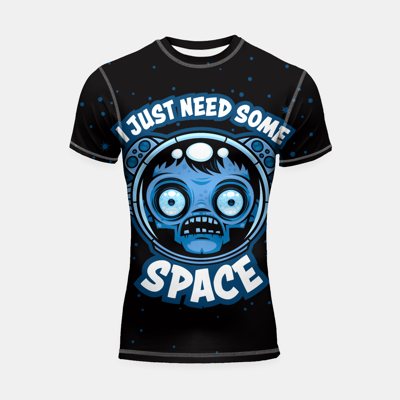 Image of Zombie Astronaut Needs Some Space Shortsleeve rashguard - Live Heroes
