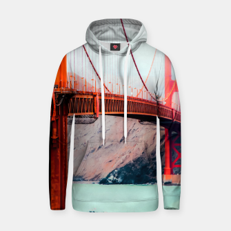 Thumbnail image of Boat and bridge view at Golden Gate Bridge, San Francisco, USA Hoodie, Live Heroes