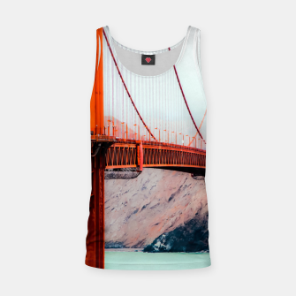 Miniatur Boat and bridge view at Golden Gate Bridge, San Francisco, USA Tank Top, Live Heroes