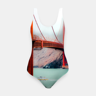 Thumbnail image of Boat and bridge view at Golden Gate Bridge, San Francisco, USA Swimsuit, Live Heroes