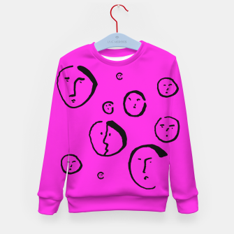 Thumbnail image of Wondering Heads on Pink Kid's sweater, Live Heroes