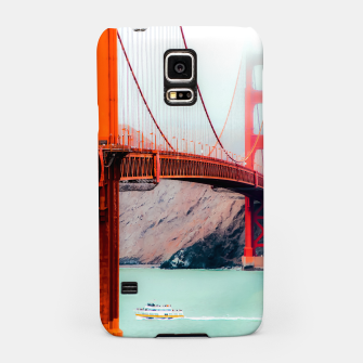 Miniatur Boat and bridge view at Golden Gate Bridge, San Francisco, USA Samsung Case, Live Heroes