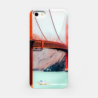Thumbnail image of Boat and bridge view at Golden Gate Bridge, San Francisco, USA iPhone Case, Live Heroes