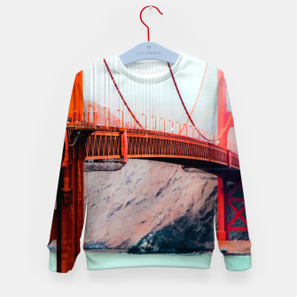Thumbnail image of Boat and bridge view at Golden Gate Bridge, San Francisco, USA Kid's sweater, Live Heroes