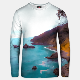 Thumbnail image of mountains with coastal scenic at Big Sur, highway 1, California, USA Unisex sweater, Live Heroes