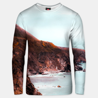 Miniaturka Mountains with ocean view at Big Sur, Highway 1, California, USA Unisex sweater, Live Heroes