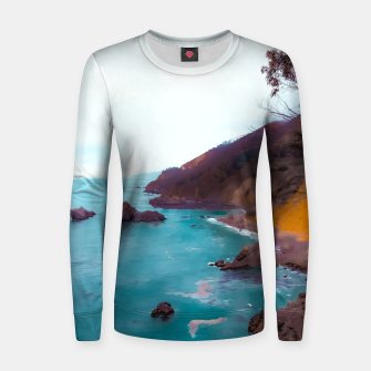 Thumbnail image of mountains with coastal scenic at Big Sur, highway 1, California, USA Women sweater, Live Heroes