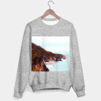 Miniaturka Mountains with ocean view at Big Sur, Highway 1, California, USA Sweater regular, Live Heroes