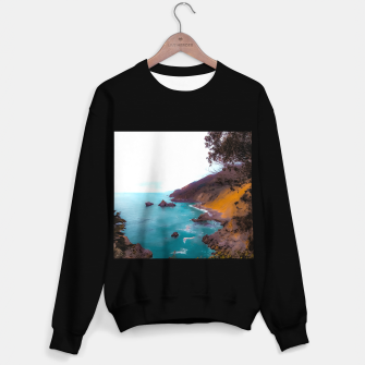 Thumbnail image of mountains with coastal scenic at Big Sur, highway 1, California, USA Sweater regular, Live Heroes