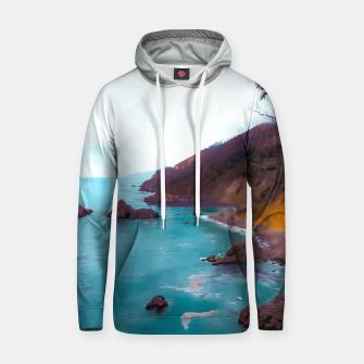 Thumbnail image of mountains with coastal scenic at Big Sur, highway 1, California, USA Hoodie, Live Heroes