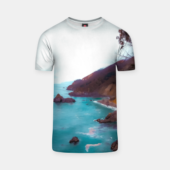 Thumbnail image of mountains with coastal scenic at Big Sur, highway 1, California, USA T-shirt, Live Heroes