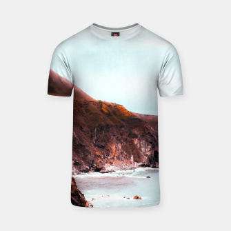 Miniaturka Mountains with ocean view at Big Sur, Highway 1, California, USA T-shirt, Live Heroes