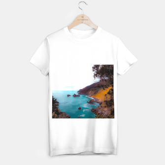 Thumbnail image of mountains with coastal scenic at Big Sur, highway 1, California, USA T-shirt regular, Live Heroes