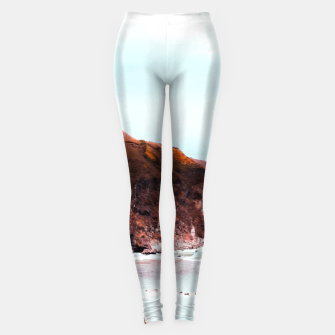 Miniaturka Mountains with ocean view at Big Sur, Highway 1, California, USA Leggings, Live Heroes