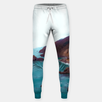 Thumbnail image of mountains with coastal scenic at Big Sur, highway 1, California, USA Sweatpants, Live Heroes