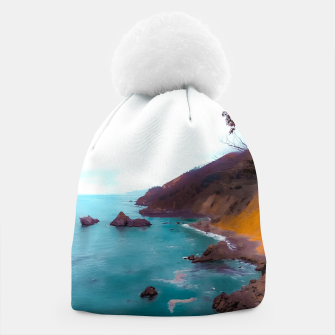 Thumbnail image of mountains with coastal scenic at Big Sur, highway 1, California, USA Beanie, Live Heroes