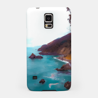 Thumbnail image of mountains with coastal scenic at Big Sur, highway 1, California, USA Samsung Case, Live Heroes