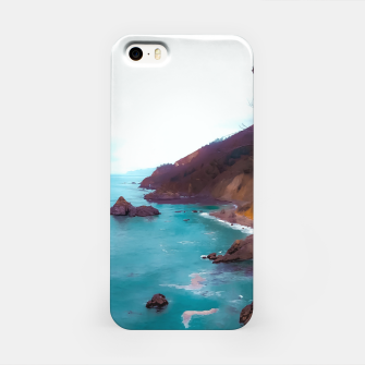 Thumbnail image of mountains with coastal scenic at Big Sur, highway 1, California, USA iPhone Case, Live Heroes