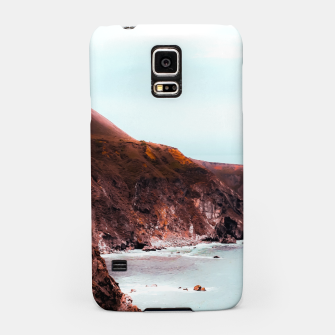 Miniaturka Mountains with ocean view at Big Sur, Highway 1, California, USA Samsung Case, Live Heroes