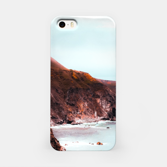 Miniaturka Mountains with ocean view at Big Sur, Highway 1, California, USA iPhone Case, Live Heroes