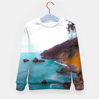 Thumbnail image of mountains with coastal scenic at Big Sur, highway 1, California, USA Kid's sweater, Live Heroes