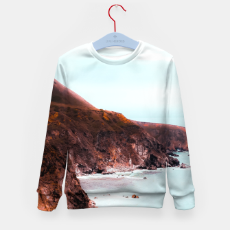 Miniaturka Mountains with ocean view at Big Sur, Highway 1, California, USA Kid's sweater, Live Heroes