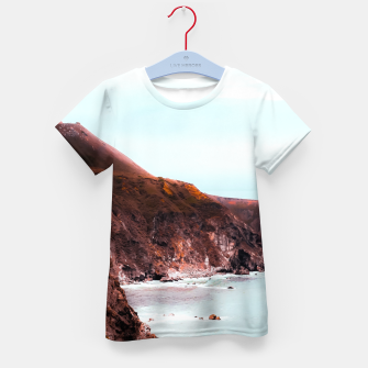Miniaturka Mountains with ocean view at Big Sur, Highway 1, California, USA Kid's t-shirt, Live Heroes