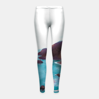 Thumbnail image of mountains with coastal scenic at Big Sur, highway 1, California, USA Girl's leggings, Live Heroes
