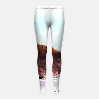 Miniaturka Mountains with ocean view at Big Sur, Highway 1, California, USA Girl's leggings, Live Heroes