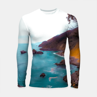 Thumbnail image of mountains with coastal scenic at Big Sur, highway 1, California, USA Longsleeve rashguard , Live Heroes