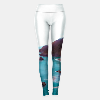 Thumbnail image of mountains with coastal scenic at Big Sur, highway 1, California, USA Leggings, Live Heroes