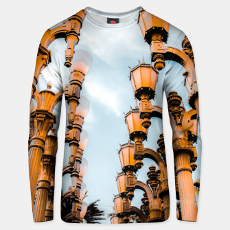 Thumbnail image of Urban Lights pole at LACMA, Los Angeles, California, USA Unisex sweater, Live Heroes
