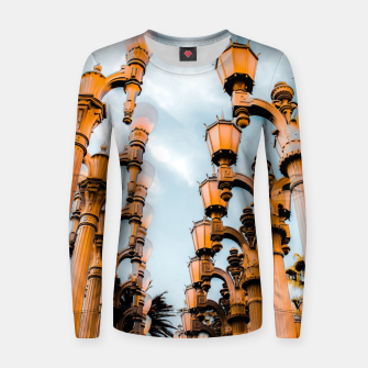 Thumbnail image of Urban Lights pole at LACMA, Los Angeles, California, USA Women sweater, Live Heroes