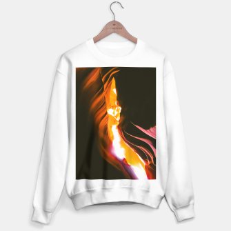 Thumbnail image of light in the sandstone cave abstract at Antelope Canyon, Arizona, USA Sweater regular, Live Heroes
