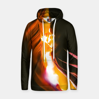 Thumbnail image of light in the sandstone cave abstract at Antelope Canyon, Arizona, USA Hoodie, Live Heroes
